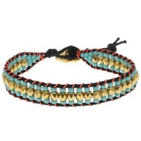 Cotton Wrapped Loom Bracelet - Teal Blossom - Exclusive Beadaholique Jewelry Kit