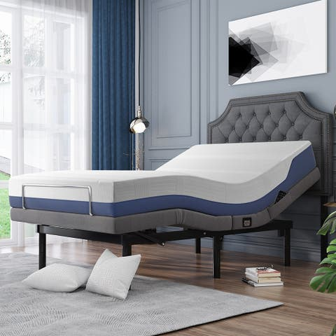 Ergonomic BedOne Bed,Headboard and Mattress are not included