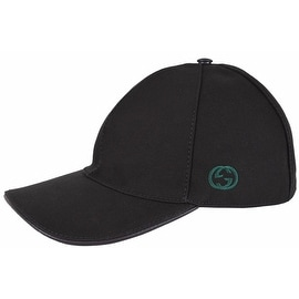 Gucci Men's 387554 BLACK Canvas GG Green Red Web Baseball Cap Hat L