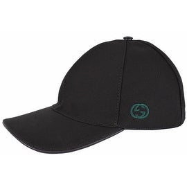 Gucci Men's 387554 BLACK Canvas GG Green Red Web Baseball Cap Hat S
