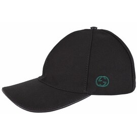 Gucci Men's 387554 BLACK Canvas GG Green Red Web Baseball Cap Hat S