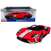 2017 Ford GT #1 Red Heritage Special Edition 1/18 Diecast Model Car by Maisto