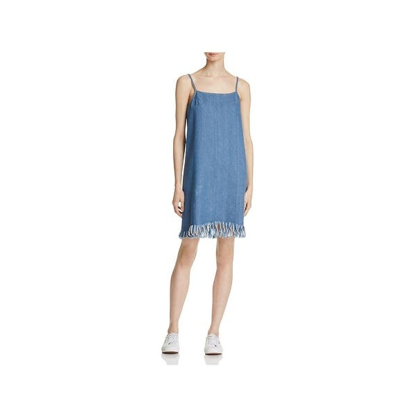 9f36905518 Shop Sadie & Sage Womens Tank Dress Denim Frayed Hem - Free Shipping ...