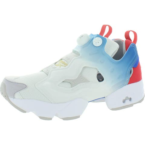 Reebok Womens Instapump Fury OG NM Fashion Sneakers Lifestyle Chunky - White/Humble Blue/Sterling Grey