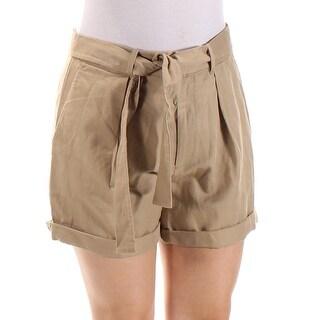 RALPH LAUREN $145 Womens New 1102 Brown Cuffed Casual Short 6 B+B