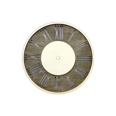 Darice Clock Face Wood Distress w/Roman Numerals