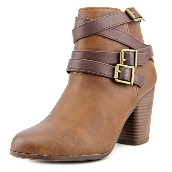 Material Girl Minah Round Toe Canvas Ankle Boot