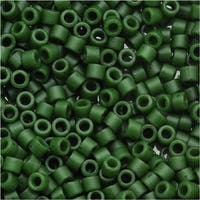 Miyuki Delica Seed Beads 11/0 Opaque Olive Green DB797 7.2 Grams