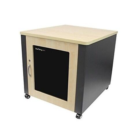Startech Accessory Rkqmcab12 12U Quiet Office Server Cabinet Wood Finish Casters