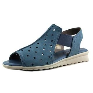 The Flexx Fan Dance Women Open Toe Leather Blue Sandals