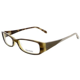 Vera Wang V 024 SS 52 Suede Horn Full Rim Rectangular Optical Frame