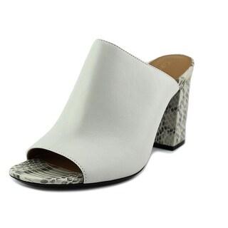 Calvin Klein Cice Cow Silk Open-Toe Leather Mules