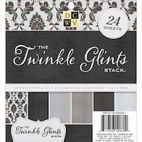 "Twinkle Glints; 6 Designs/4 Each - Dcwv Single-Sided Cardstock Stack 6""X6"" 24/Pkg"