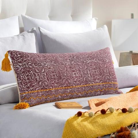 Denae Screen Printed Boho 32-inch Lumbar Pillow