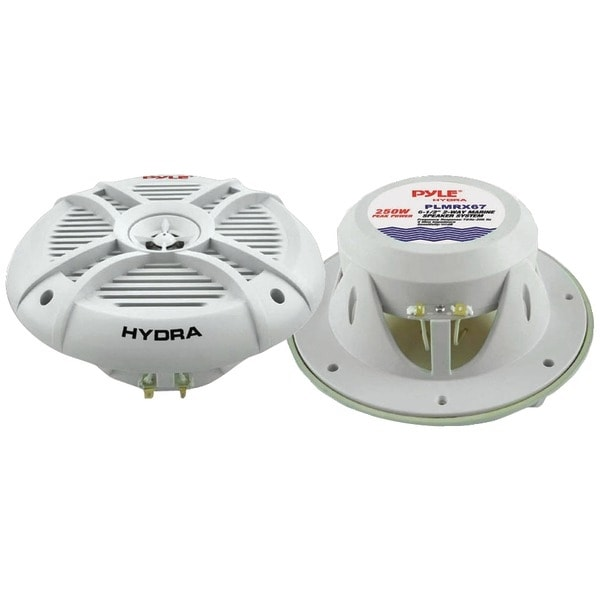 "PYLE PRO PLMRX67 Hydra Series Aqua Pro 6.5"" 250-Watt 2-Way Marine Speakers"