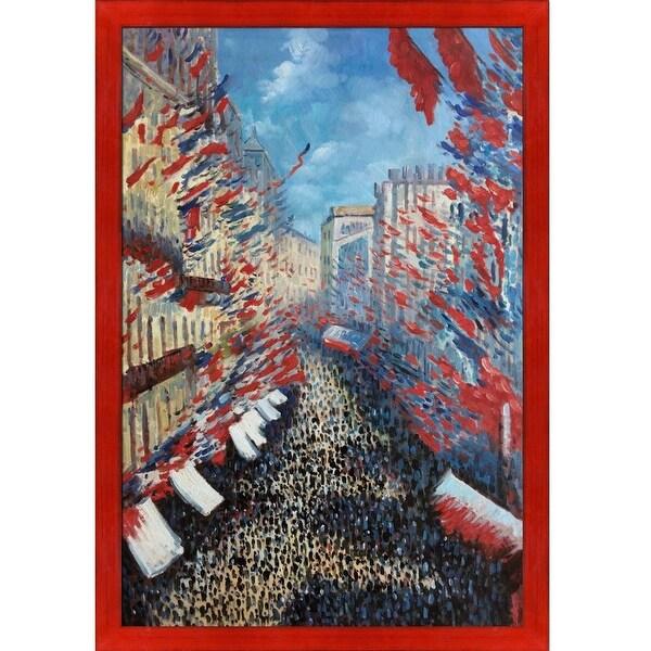 Shop Claude Monet 'La Rue Montorgueil, Paris, Festival of