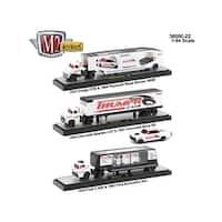 Auto Haulers Release 22, 3 Trucks Set 1/64 Diecast Models by M2 Machines