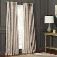 Martha Window Morning Tide Grommet-Top Curtain Panel, Khaki 50x63