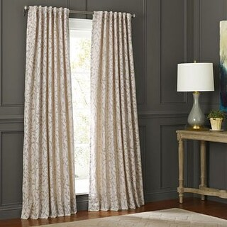 Martha Window Morning Tide Grommet-Top Curtain Panel, Khaki 50x63
