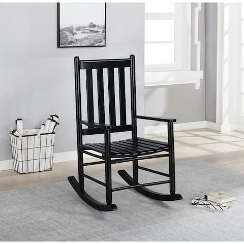 Slat Back Wooden Rocking Chair