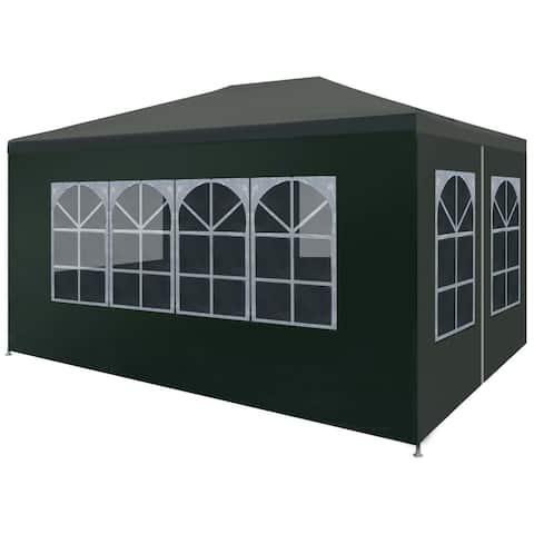 """vidaXL Party Tent 9'10""""x13'1"""" Green"""