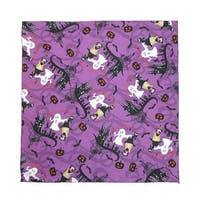 CTM® Glow in the Dark Witches and Ghosts Halloween Bandana - One size