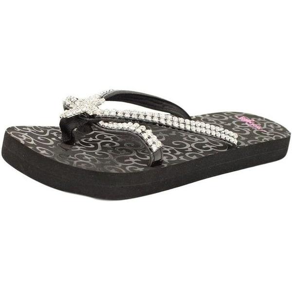 Blazin Roxx Western Shoes Womens Hayley Flip Flops Cross