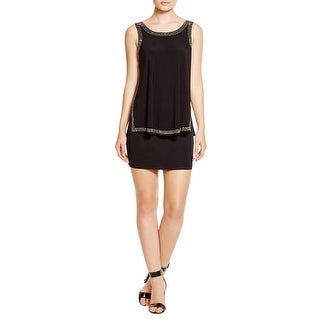 Laundry by Shelli Segal Womens Cocktail Dress Jersey Beaded