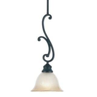 Designers Fountain 96130 Barecelona Down Lighting Mini Pendant with Ochere Finished Glass Shade