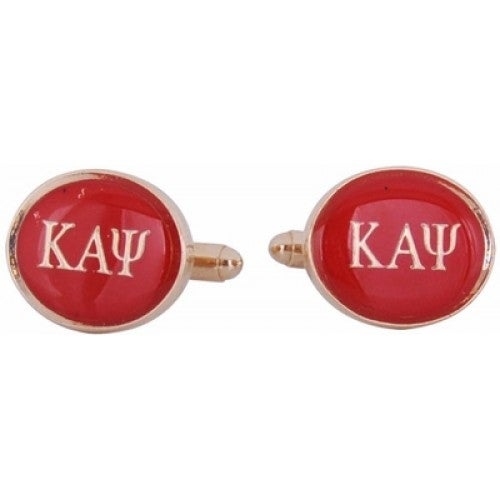 Kappa Alpha Psi Red Gold Fraternity Greek Cufflinks