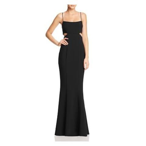 LIKELY Black Spaghetti Strap Full-Length Dress 14