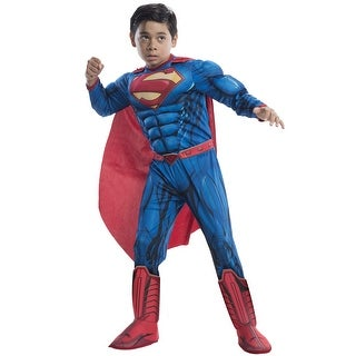 Rubies Deluxe Superman Child Costume - Blue (2 options available)