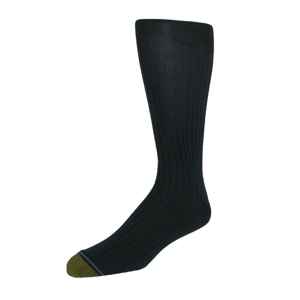 Gold Toe Men's Extended Size Ribbed Moisture Control Dress Socks (3 Pair Pack)