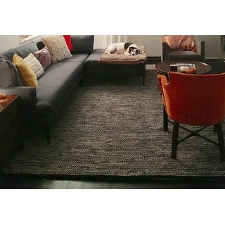 Strick & Bolton Niclausse Handmade Flatweave Solid Cotton Area Rug