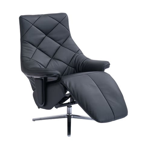 Darwin Modern Leather Cordless Powered Recliner with Diamond Back