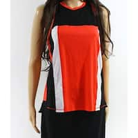The North Face Red Black Womens Size Small S Racerback Tank Top