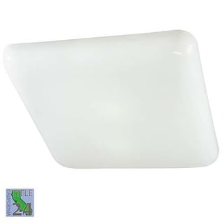 Minka Lavery 1022-PL 2 Light Down Lighting Flush Mount Ceiling Fixture from the Kitchen Fluorescent Collection