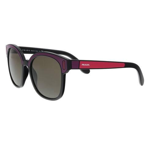 d203d9ecc7 Prada PR 05US SSA5S2 Black  Bordeaux  Fuxia Square Sunglasses - 53-18-