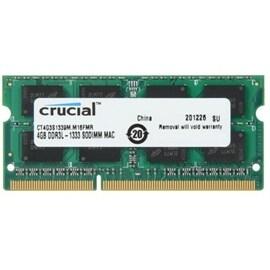 Crucial Memory CT4G3S1339M 4GB DDR3 1333 SODIMM MAC 1.35V Retail