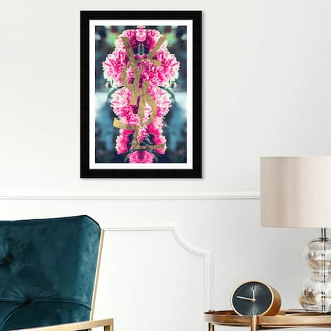 Wynwood Studio 'Double-Up Boom' Fashion and Glam Wall Art Framed Print Lifestyle - Pink, Gold