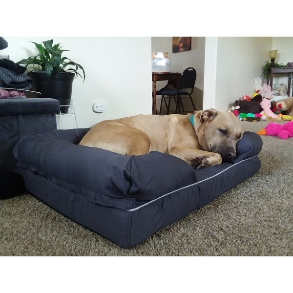 Shop Gymax Large Dog Sofa Pet Bed Solid Memory Foam ...