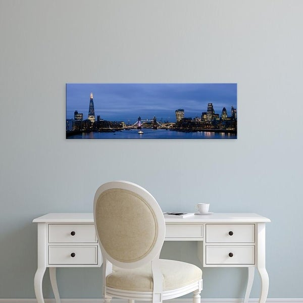 Easy Art Prints Panoramic Images's 'Buildings at the waterfront, City of London, Southwark, London, England' Canvas Art