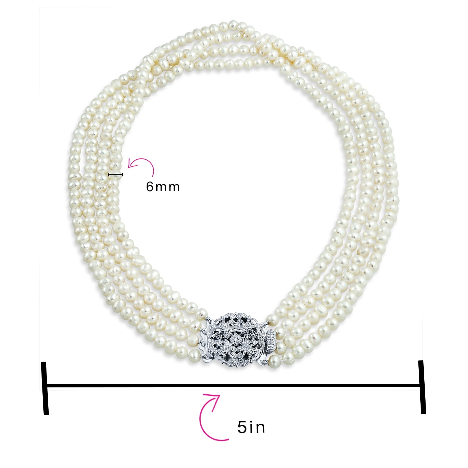 White /& Multi Length 8mm Cultured Pearl Endless Strand Necklace US Seller