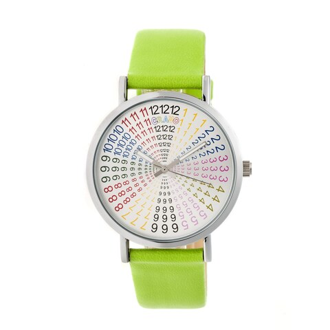 Crayo Fortune Unisex Quartz Watch, Genuine Leather Band, Luminous Hands