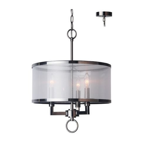 Woodbridge Lighting 15513 3 Light 1 Tier Candle Style Drum Chandelier from the Jamison Collection