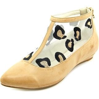 2 Lips Too Too Shy Women Pointed Toe Synthetic Nude Flats