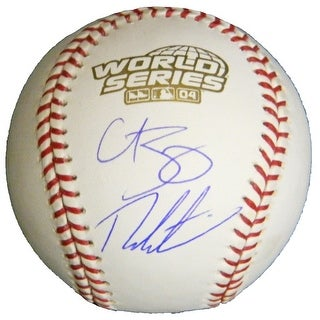 Theo Epstein  Curt Schilling Dual Rawlings Official 2004 World Series Baseball