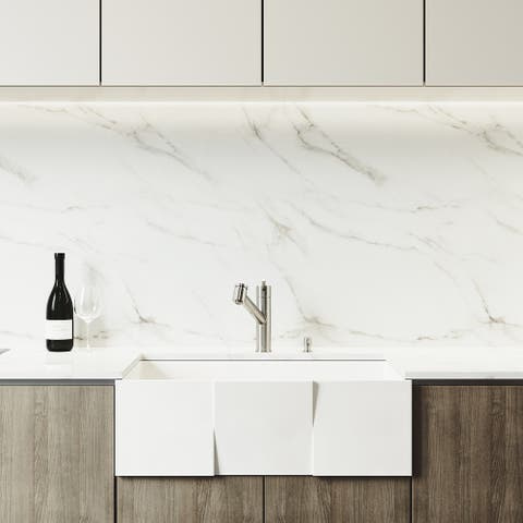 "VIGO 36"" Oxford Stainless Steel Slotted Apron 2-Bowl Kitchen Sink Workstation, Black Greenwich Faucet & Soap Dispenser"