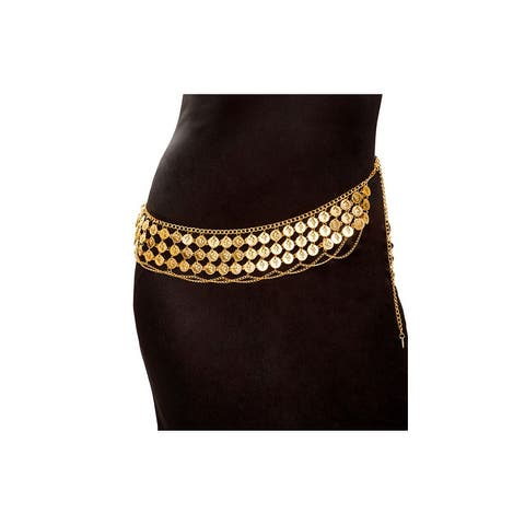Gold Coin Wrap Belt - One Size Fits Most
