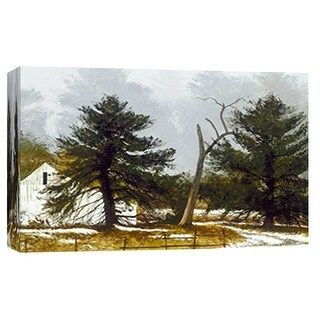 """PTM Images 9-101832  PTM Canvas Collection 8"""" x 10"""" - """"Winter Mist"""" Giclee Rural Art Print on Canvas"""